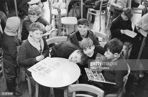 Clifford Parish and his friends from the Welsh village of Aberfan only a month after a coal tip collapsed on their school killing 144 people