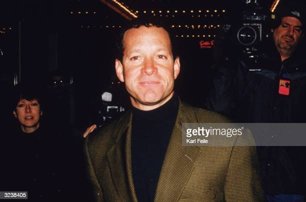 Headshot of American actor Steve Guttenberg at the Broadway opening of playwright N Richard Nash's play 'The Rainmaker' at the Brooks Atkinson...