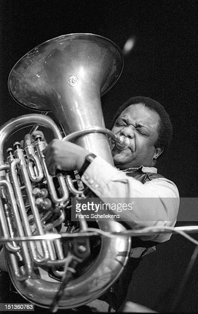 11th NOVEMBER: American jazz musician Howard Johnson performs live playing Tuba on stage at the BIM Huis in Amsterdam, Netherlands on 29th November...
