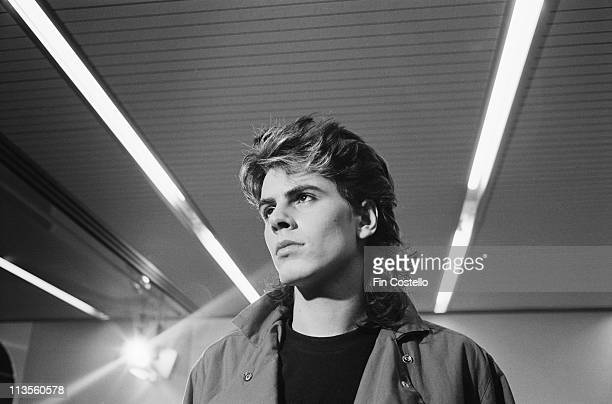 John Taylor from Duran Duran posed in Newcastle England during their Rio tour on 11th November 1982