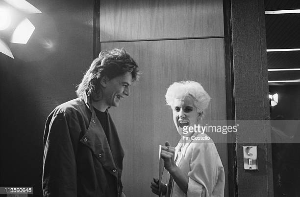 John Taylor from Duran Duran posed with Paula Yates in Newcastle England during their Rio tour on 11th November 1982
