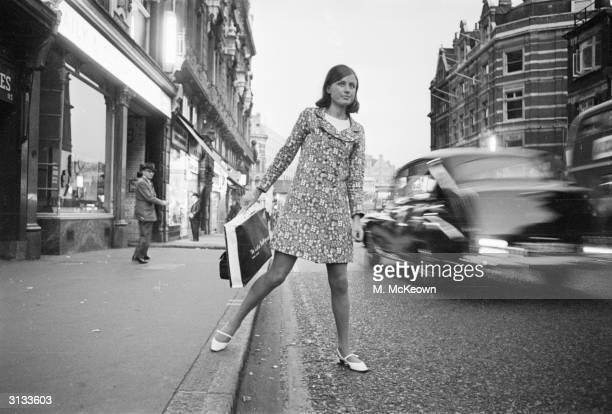Jenny Dingeman walking in Fleet Street London
