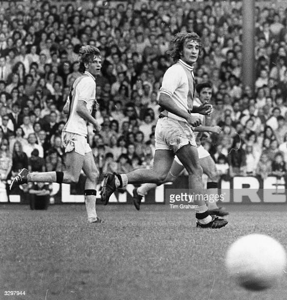 Footballer Steve Kember of Crystal Palace FC and Ross Jenkins of Watford