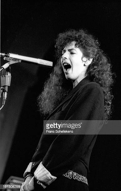 11th SEPTEMBER: American singer and composer Shelley Hirsch performs live on stage at the Waag in Leiden, Netherlands on 11th September 1986.