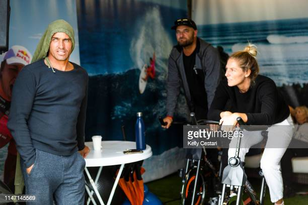 11time WSL Champion Kelly Slater of the United States advances to Round 3 of the 2019 Margaret River Pro after winning Heat 4 of Round 2 at Main...