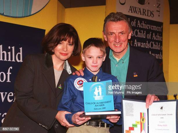 11yearold cystic fibrosis sufferer Thomas Welch from Argyll who was among 150 courageous youngsters honoured at the Child of Achievement Awards is...
