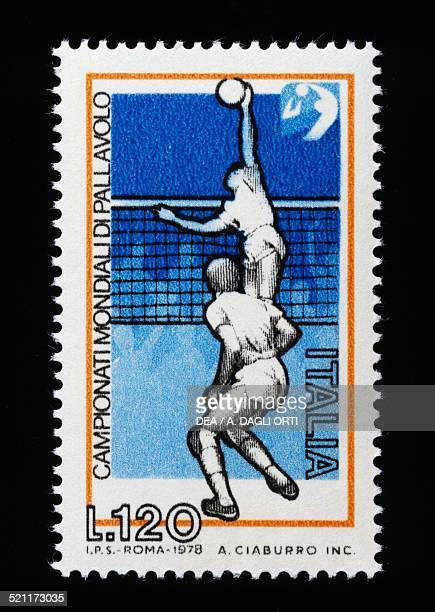 120lire postage stamp for the 1978 FIVB Volleyball World Championship Italy 20th century Italy