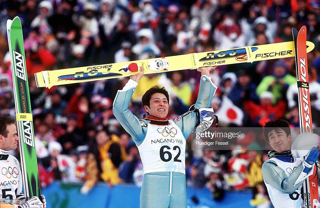 NAGANO 1998; EINZELSPRINGEN 120m SCHANZE - SIEGEREHRUNG -; SILBER... News Photo | Getty Images