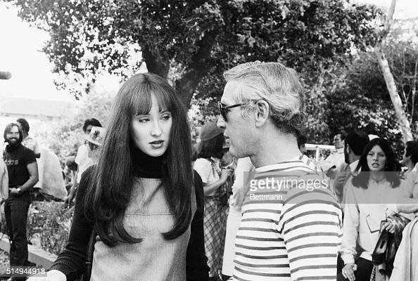 Hollywood, CA- Actor Paul Newman chats with his daughter ...