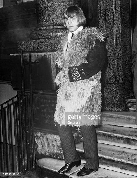 12/12/67London Guitarist Brian Jones of the Rolling Stones pop group heads for court in a shaggy coat Dec 12th to appeal a ninemonth jail term for...