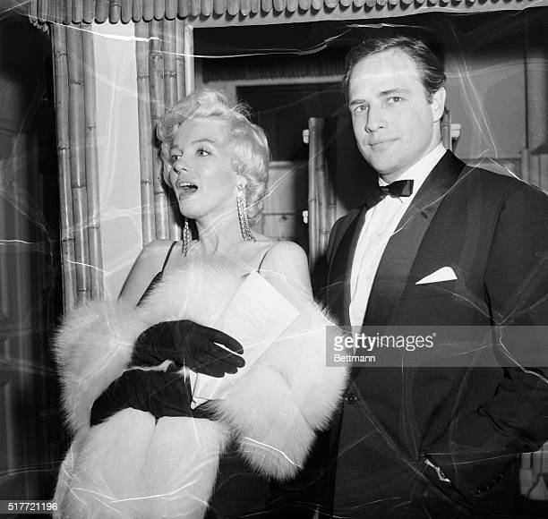 New YorkNY Top film idols Marilyn Monroe and Marlon Brando put in an appearence at the Sheraton Aster Hotel Late December 12th for the second annual...