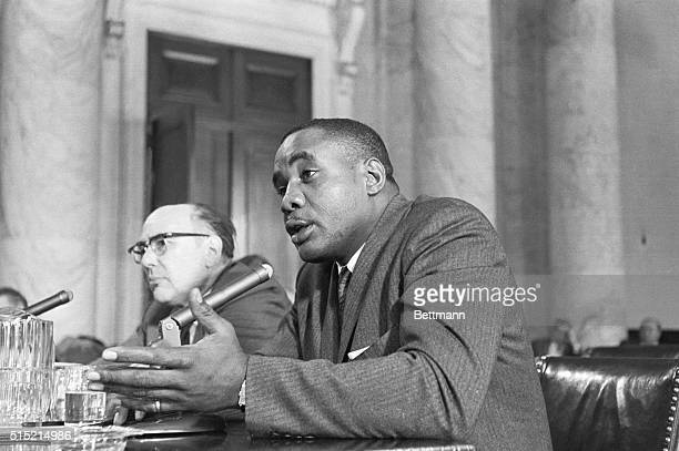 Washington DC Topranking heavyweight contender Sonny Liston is shown today as he told Senate boxing investigators that a St Louis police officer once...