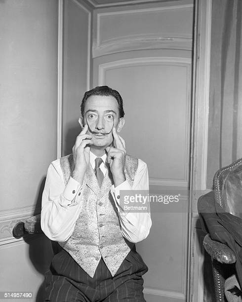 Paris France Spanish painter Salvador Dali claims that his threeinch long mustaches are 'like an aerial stretching out to capture genius and...
