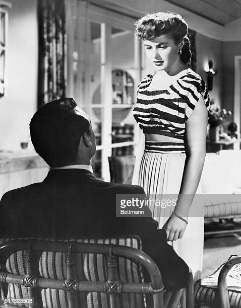 Hollywood CA Serene and lovely Ingrid Bergman surprises the movie public in a bare midriff gown as she is cast in a new type of role opposite Cary...