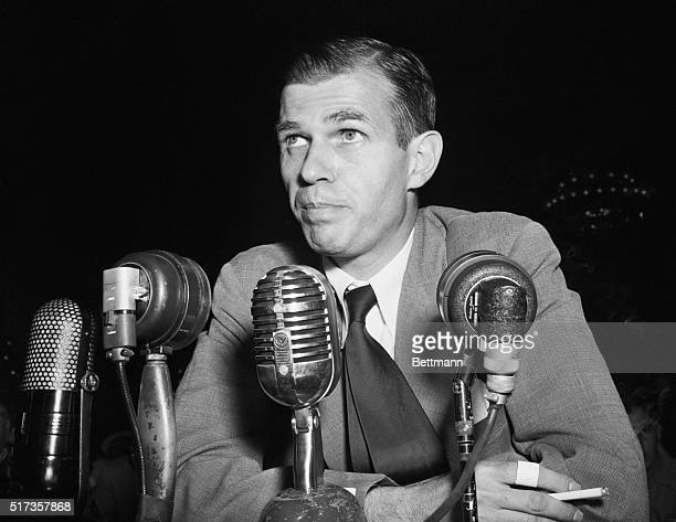 New York NY Alger Hiss former State Department employe was indicted by a Federal Grand Jury on charges of giving false testimony Hiss named by former...