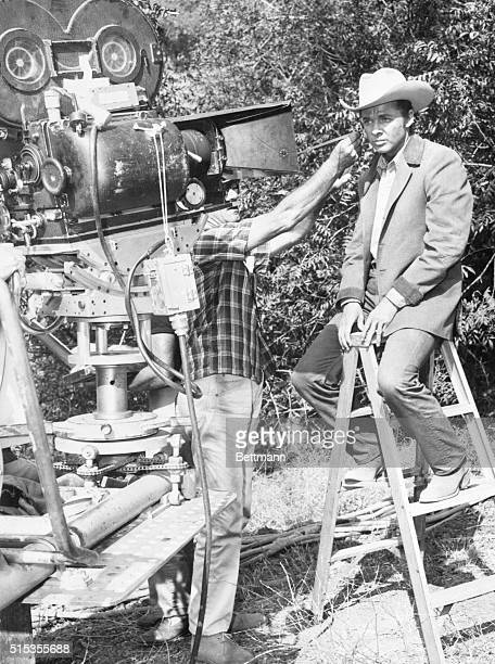 Universal City CA No horse laughs please as you get this behindthescenes peek of Audie Murphy riding a stepladder instead of a mustang for a new...