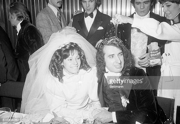 New York New York Keeping weding ceremony as conventional as possibleafter being married on nationwide televisionentertainer Tiny Tim is sprinkled...