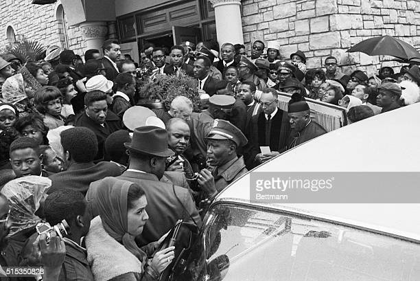 Los Angeles CA The casket containing the body of singer Sam Cooke is barely visible in the crowd of people on hand at Mount Sinai Baptist Church to...