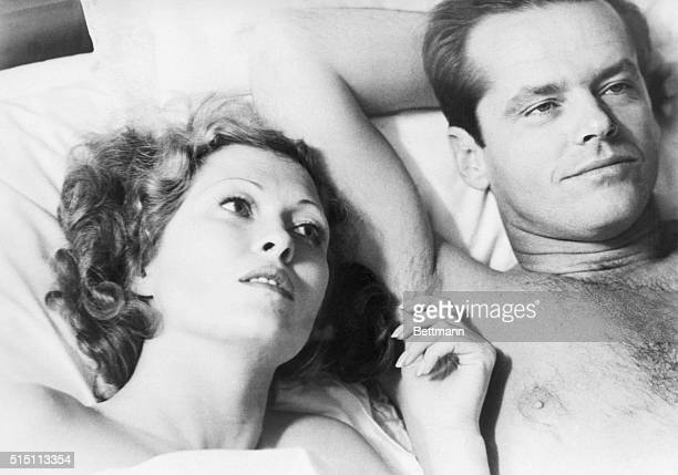 """Faye Dunaway and Jack Nicholson are shown in a scene from the movie """"Chinatown."""""""