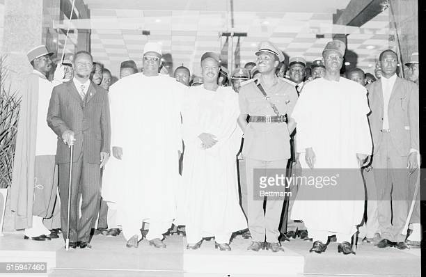 1/2/1974Yaounde Cameroon The heads of state of five African nations meet at Yaounde December 6 to discuss the Lake Bedel Bokassa of the Central...