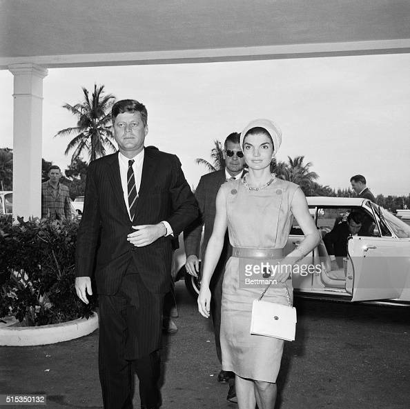 President and Mrs. Kennedy are shown returning to St. Mary