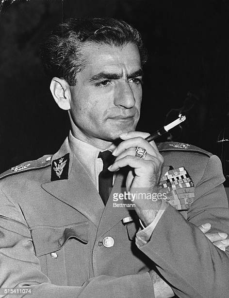 12/2/1954Tehran Iran Mohammed Riza Pahlevi the Shah of Iran is shown in pensive mood in his most recent portrait The Shah will leave Iran on December...