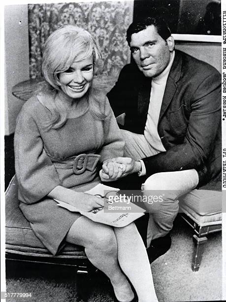 12/2/1967Miami FL Candace Mossler and her nephew Melvin Lane Powers smile as they show off an engagement ring given her by Powers The couple...