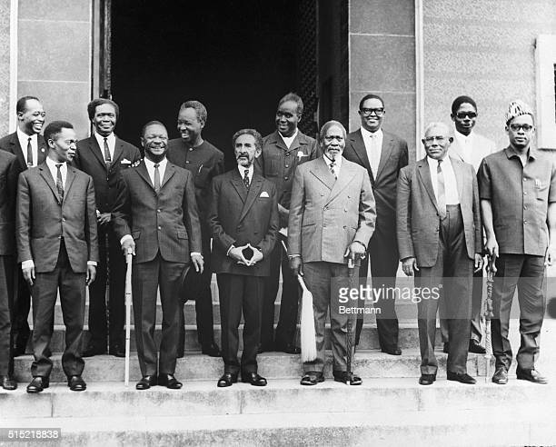 Kampala Uganda The heads of state and the leaders of governments of East and Central Africa are pictured prior to the opening of their summit...