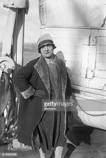 New York New York Photo shows Madame Rubinstein the noted beauty expert of New York and Paris as she arrived in New York for the holidays