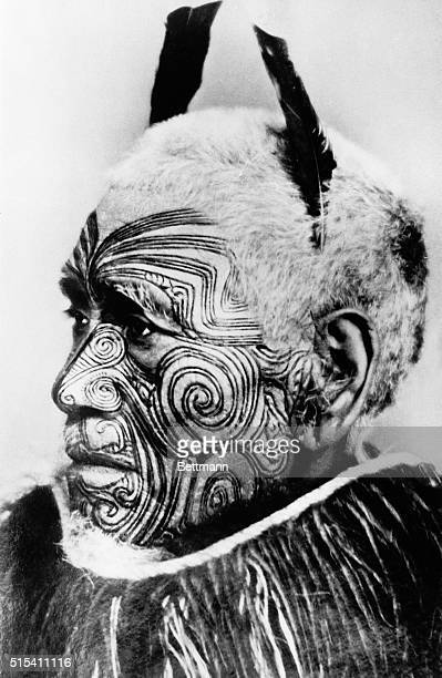 New Zealand The most beautifully tattooed member of the Maori Tribe of New Zealanders It is said that the Maoris are the original tattooed folks This...