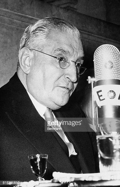 12/3/1954Lisbon Portugal Dr Oliveira Salazar Premier of Portugal addresses the National Assembly regarding India's demands that Portugal get out of...