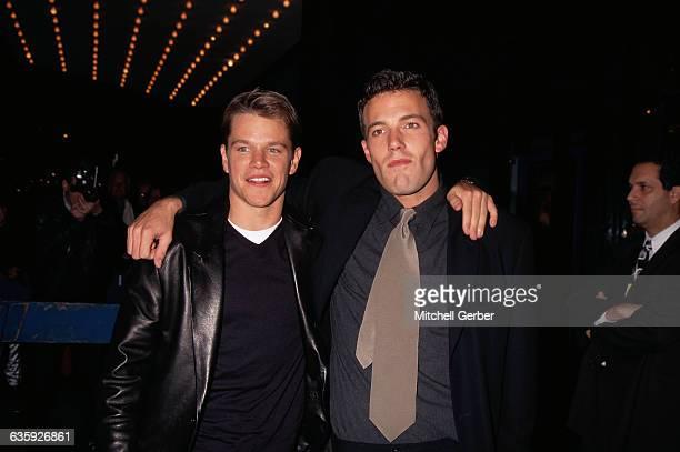 "New York, NY: Matt Damon and Ben Affleck at the premiere of ""Good Will Hunting"" at the Ziegfeld Theater."