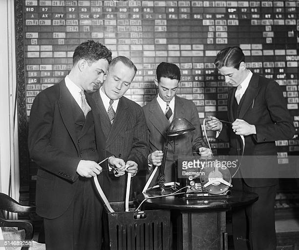 12/5/1929New York NY New stock ticker at 55 Broadway New York City will eventually be installed in all brokerage houses it will handel 7000 share...