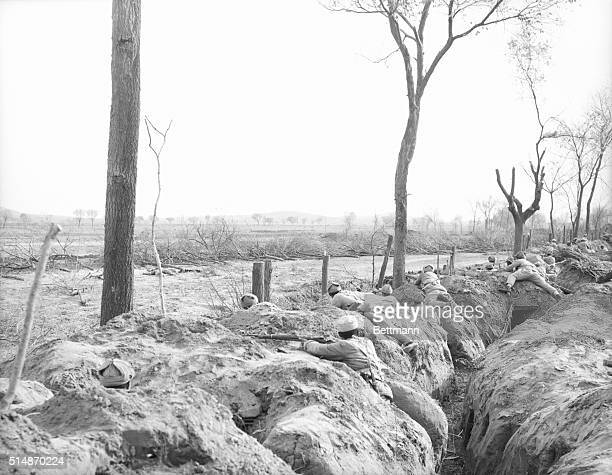 12/5/1948Erh Chen Chi China It's trench warfare for Chinese Nationals defending this small town near the important city of Suchow Only 1000 yards...