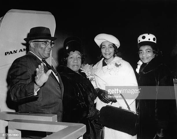 12/5/1964New York NY Enroute to meet Nobel Prize Winner Martin Luther King in London are King's parents the Reverend and Mrs Martin Luther King Sr...