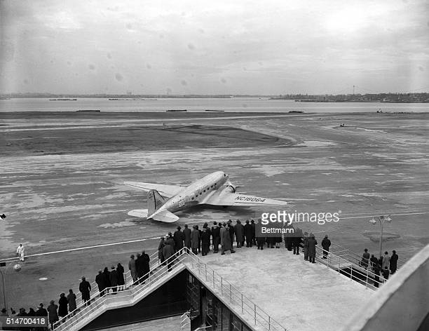 12/6/1939New York NY Crowds at the opening of LaGuardia Airport in New York