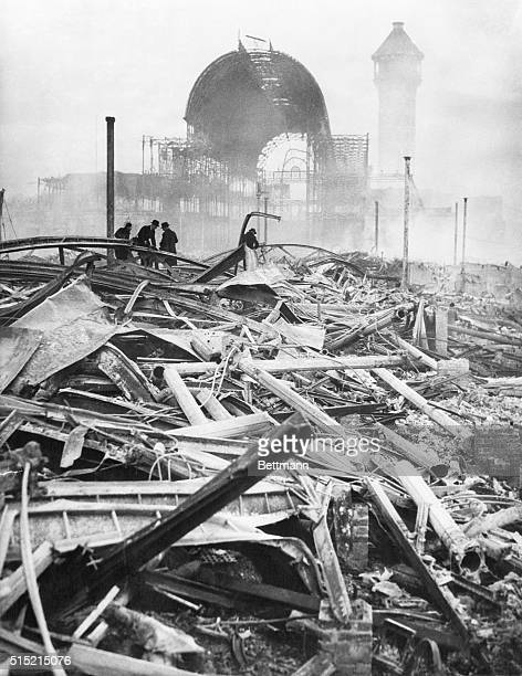 12/7/36London England Razed to the ground in the worst fire London has known for a century the Crystal Palace is a mass of twisted steelwork and...