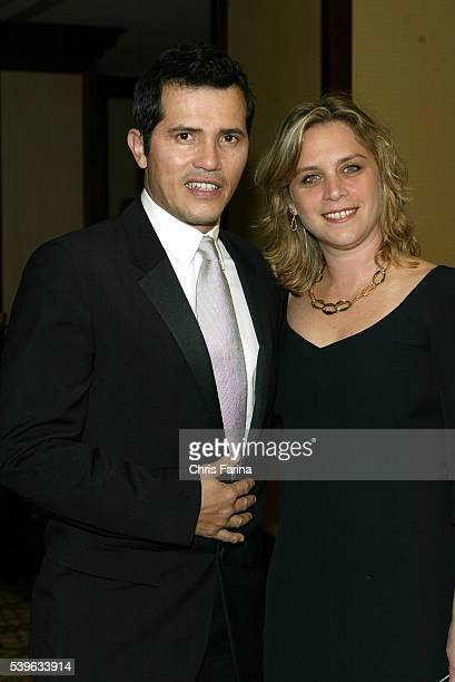 Los AngelesCalifornia Actor John Leguizamo and wife Justine attend the 58th Annual Directors Guild of America awards at the Hyatt Regency Century...