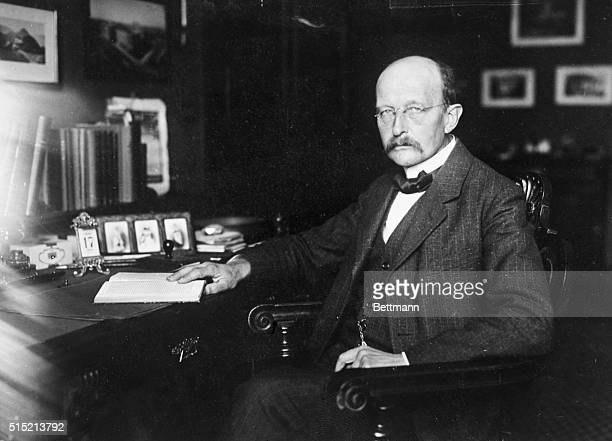 12/8/1919Germany Photo shows Prof Max Planck of the Univ of Berlin who has been awarded the Nobel Prize for his noted physics researches The...