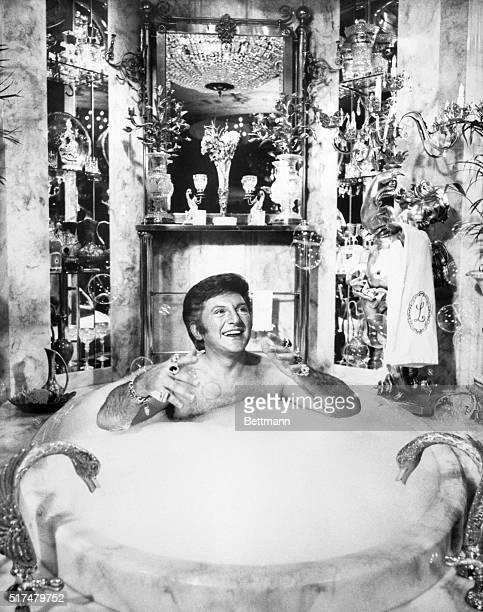 1/28/1978Las Vegas NV Liberace taking a bubble bath in his $55000 marble tub in his Las Vegas Mansion BPA