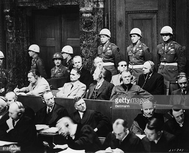 1/29/1945Nuremberg Germany Top Nazi leaders on trial in the Nuremberg Palace of Justice are interested as prosecutors begin introducing documents on...