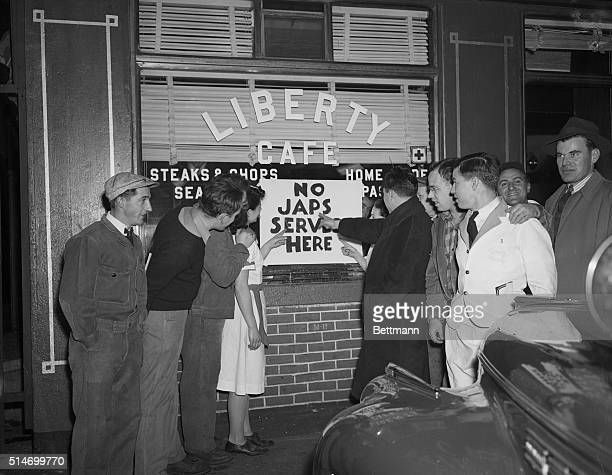 12/9/41Boston Massachusetts Repercussions of war crop up as the hysteria following Japan's sneakraid upon Pearl Harbor and other US possessions wears...