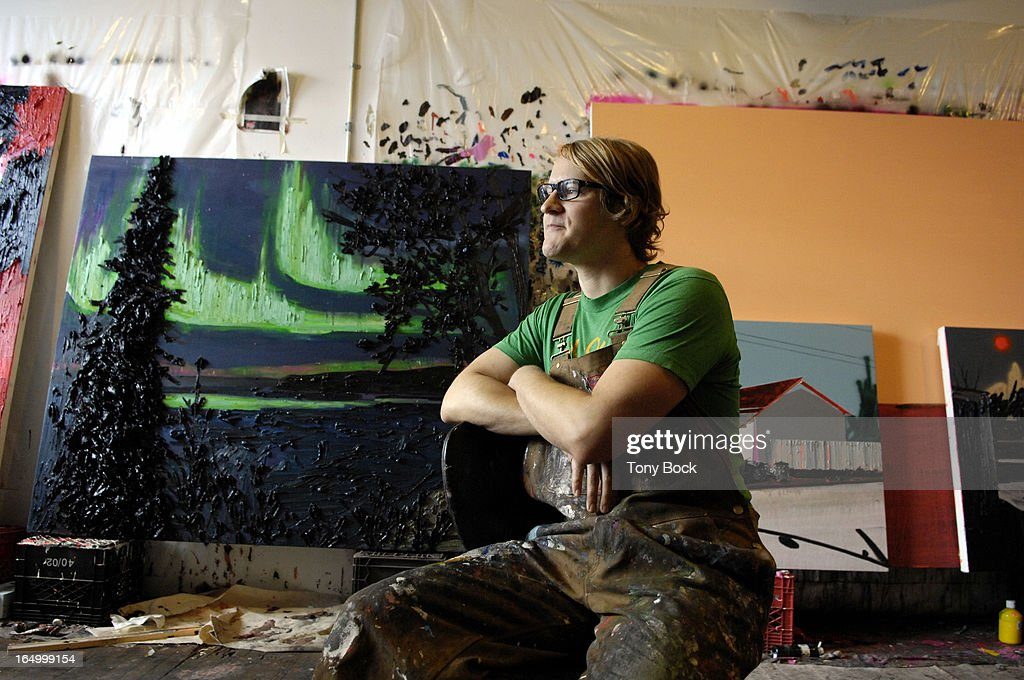 DORLAND - 12oct07 - Painter Kim Dorland in his studio. tb : Nieuwsfoto's