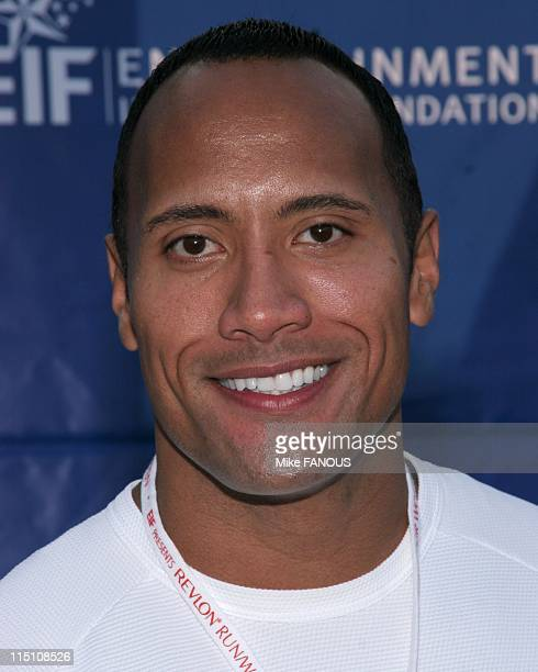 12th Annual Revlon Run/Walk for Women in Los Angeles United States on May 07 2005 Dwayne 'The Rock' Johnson at the Revlon Run/Walk for Women event at...