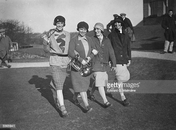 Mrs Hartley and Mrs Clements who beat Mrs Berry and Mrs Cockshutt to enter the semifinal at the Eve's Foursomes at the Southport and Ainsdale Course