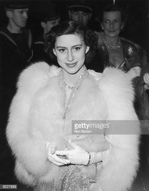 HRH Princess Margaret attending the premiere of the film 'Captain Horatio Hornblower' at the Warner Theatre Leicester Square