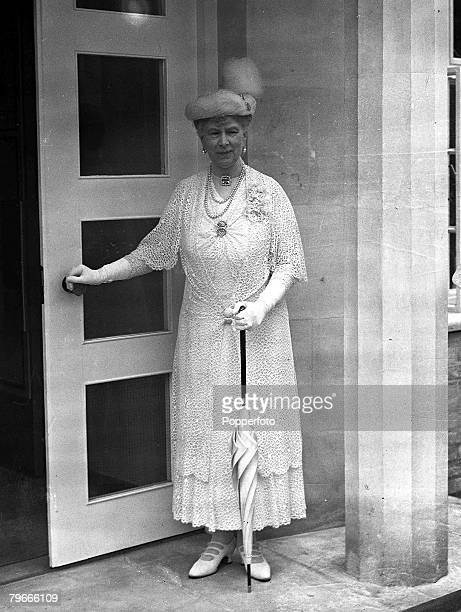 12th August 1938 Cambridge England Queen Mary officially opens an extension of Newham College