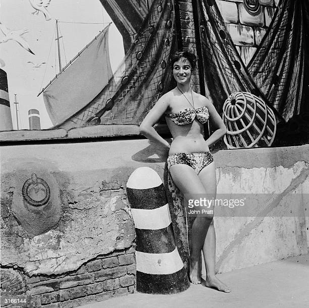 17yearold starlet Jackie Collins the younger sister of Joan Collins cools off at the Oasis swimming pool in London's Holborn She later made a name...