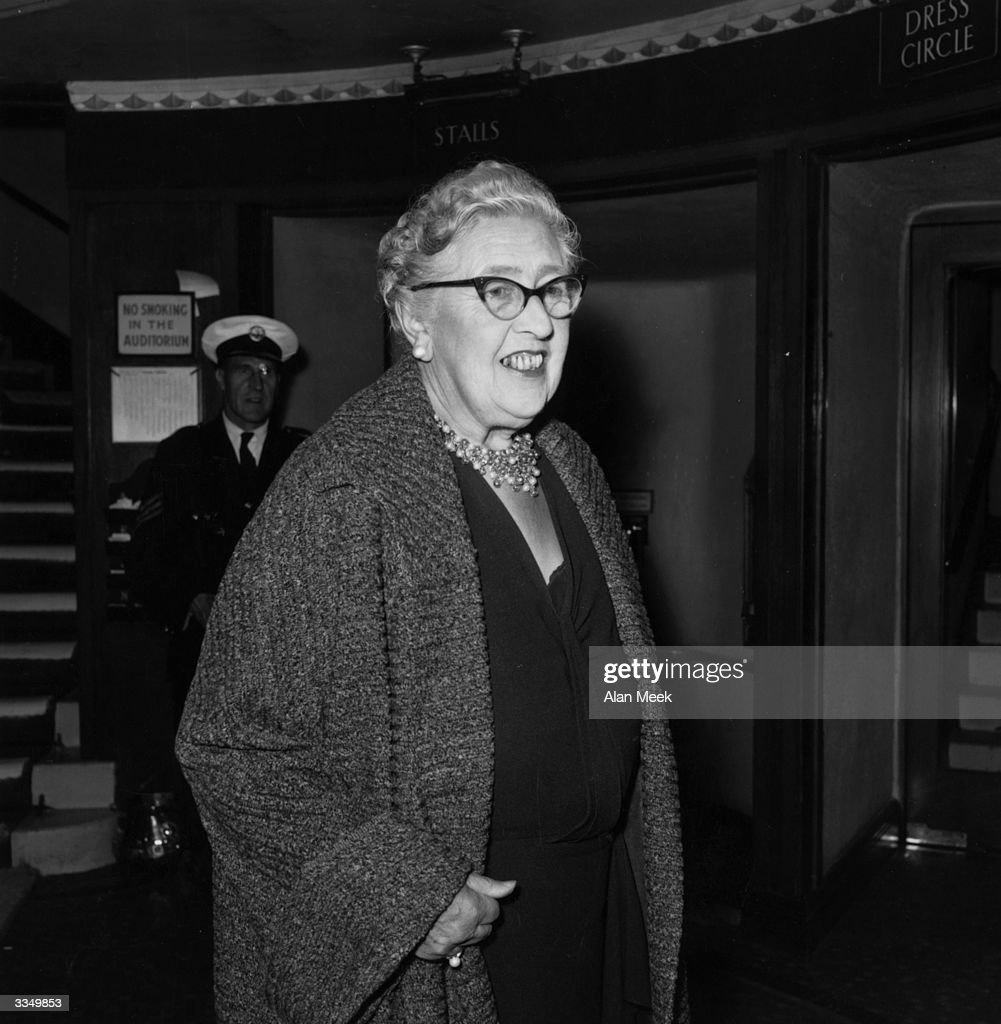 First lady of crime writing Agatha Christie, at the London premiere of her new play 'The Unexpected Guest'.