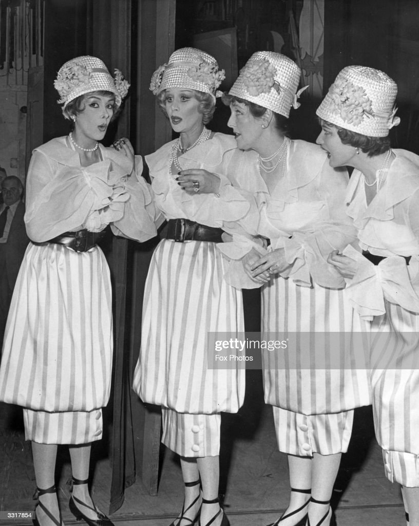 From left to right; Kay Kendall, Margaret Leighton, Joyce Grenfell and Julie Wilson in the show '100 Stars' at the Palladium.
